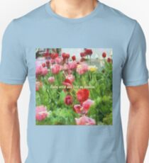 Pink And Red Tulips Unisex T-Shirt