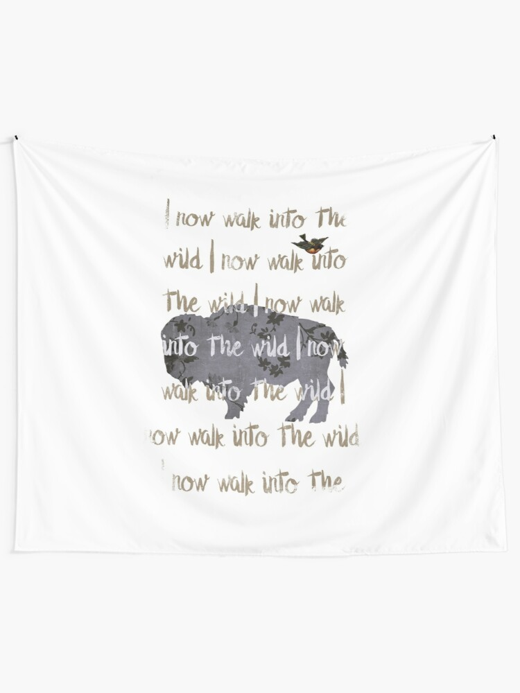Alternate view of Walk into the wild Tapestry