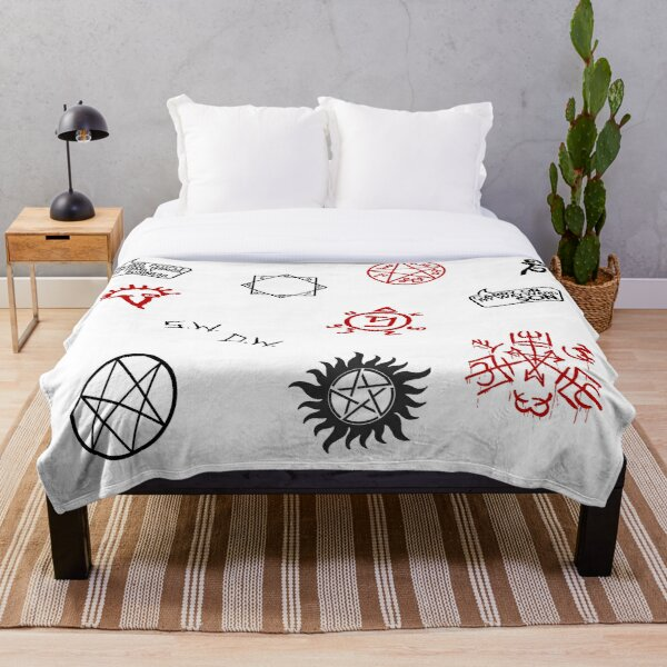 Supernatural Sigils and Symbols Throw Blanket