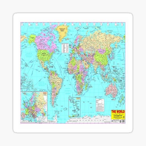 #World #Map #WorldMap Sticker