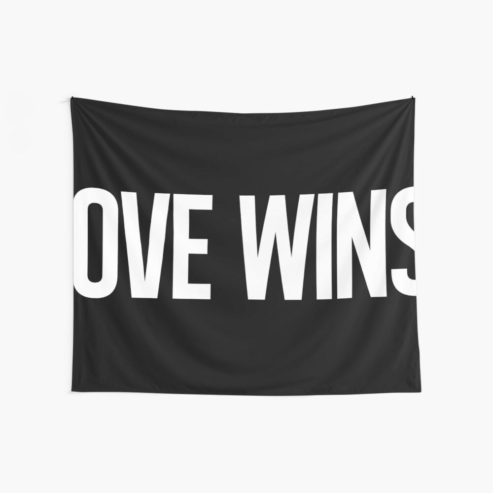 LOVE WINS. Wall Tapestry