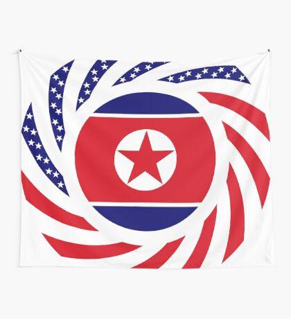 North Korean American Multinational Patriot Flag Series Wall Tapestry