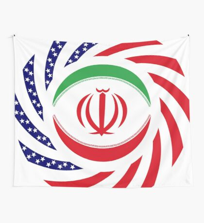 Iranian American Multinational Patriot Flag Series Wall Tapestry