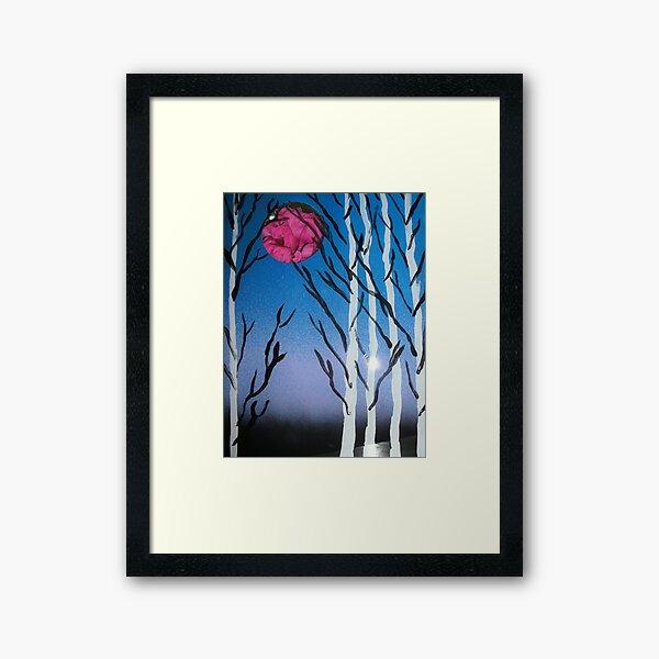 Peonie Moon Behind Glass Framed Art Print