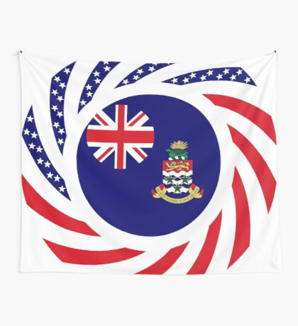 Caymanian American Multinational Patriot Flag Series Wall Tapestry