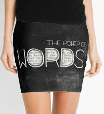 the power of words Mini Skirt