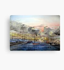 OLD SAN PEDRO - California 1850 Canvas Print