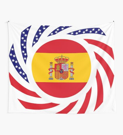 Spanish American Multinational Patriot Flag Series Wall Tapestry