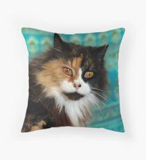 Calico Kitty Throw Pillow