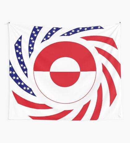 Greenlandic American Multinational Patriot Flag Wall Tapestry
