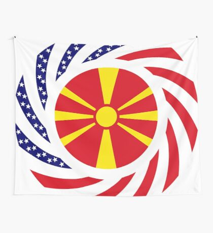 Macedonian American Multinational Patriot Flag Series Wall Tapestry