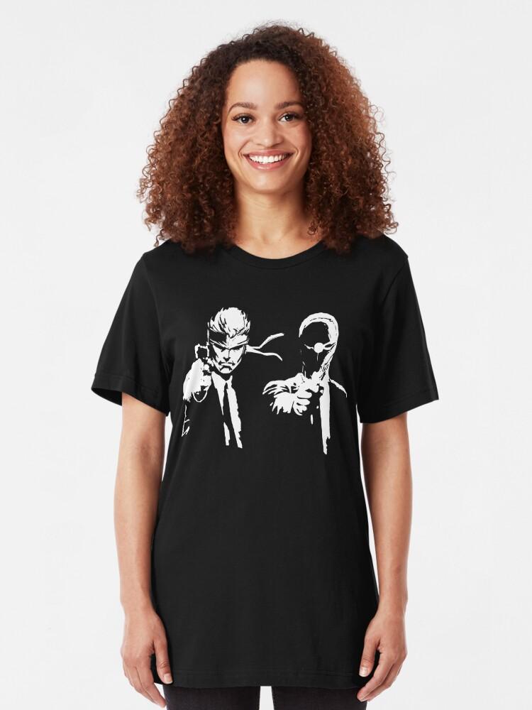 Alternative Ansicht von Metal Gear Fiction (Pulp Gear Solid) Slim Fit T-Shirt