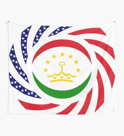 Tajik American Multinational Patriot Flag Series Wall Tapestry