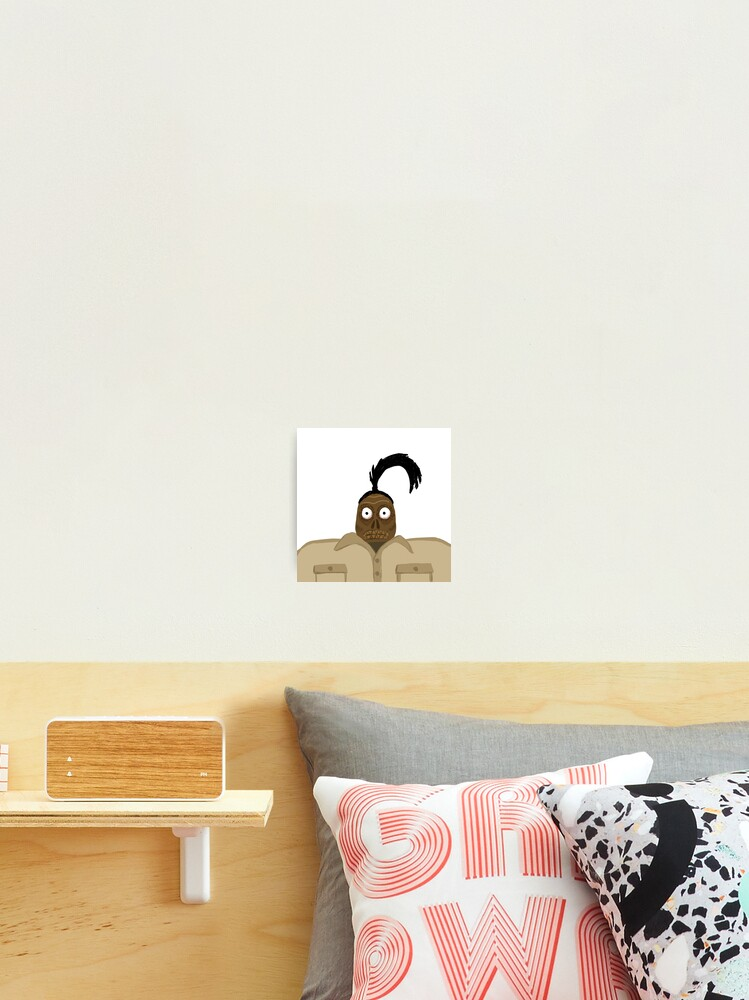 Beetlejuice Shrunken Head Guy Photographic Print By Annatater Redbubble