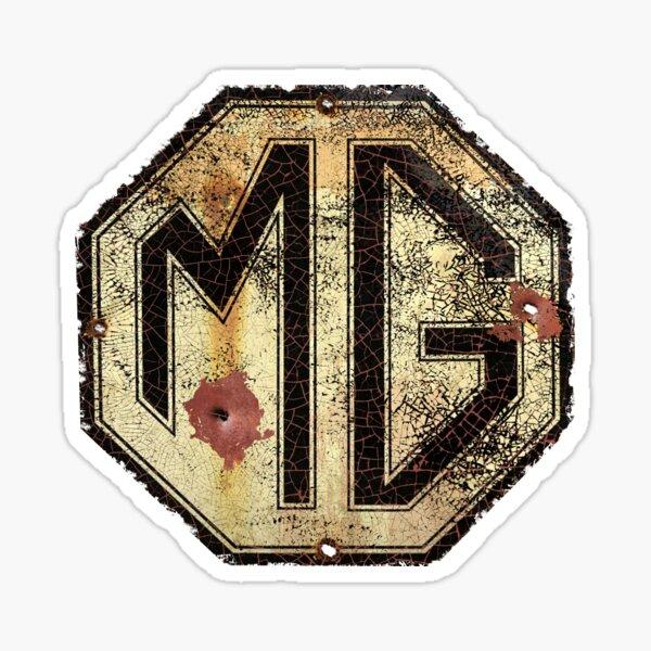 MG Autos Rusty Zeichen Sticker