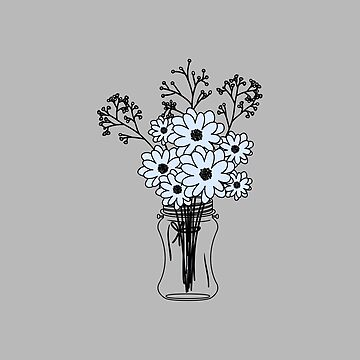 Mason Jar with Flowers by SterlingTales