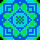 Pixel Pattern 2 by Genevieve Crabe