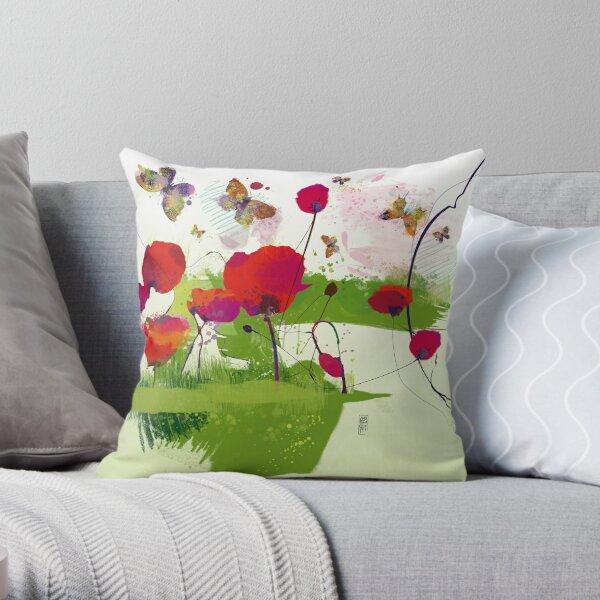 Spring's coming Throw Pillow