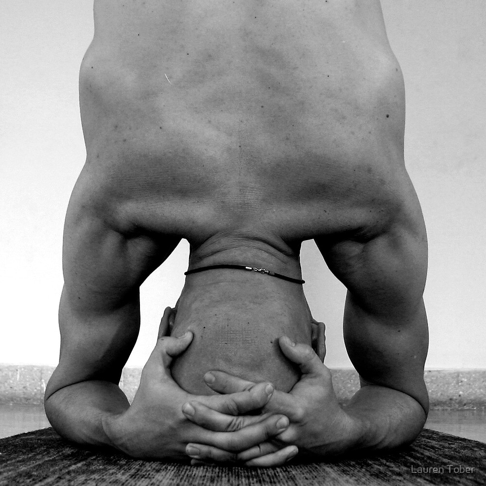 Shirshasana (head stand) by Lauren Tober