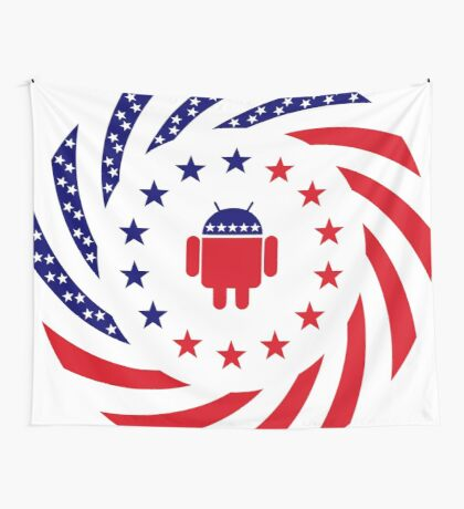 Android Murican Patriot Flag Series Wall Tapestry