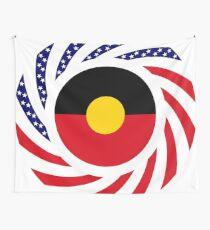 Australian Aboriginal American Multinational Patriot Flag Series Wall Tapestry
