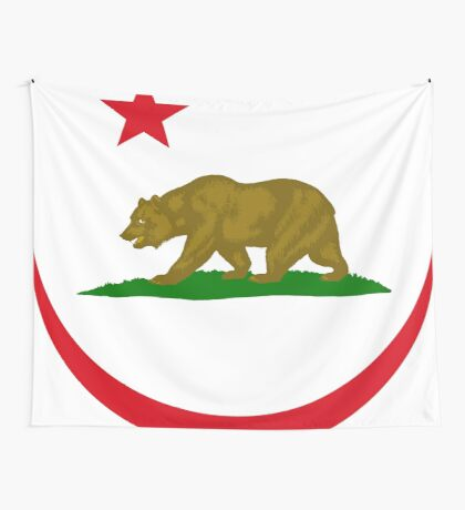 Californian Murican Patriot Flag Series 2.0 Wall Tapestry