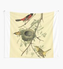 James Audubon Vector Rebuild - The Birds of America - From Drawings Made in the United States and Their Territories V 1-7 1840 - Orchard Oriole or Hang Nest Wall Tapestry