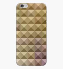 Burlywood Brown Abstract Low Polygon Background iPhone Case