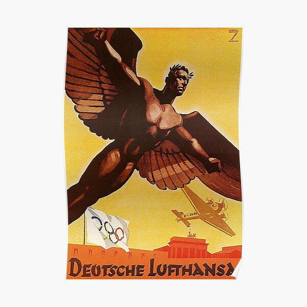 Lufthansa 10th Anniversary 1936 Poster