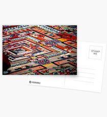 grain by grain, sand mandala. india Postcards