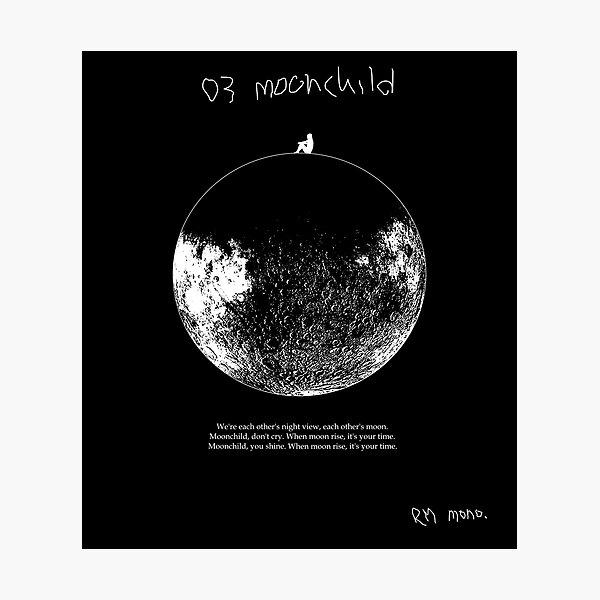 RM Mono. - Dark Moonchild Photographic Print