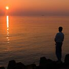 Evening pleasure. Lake Biwa in Japan. by johnrf