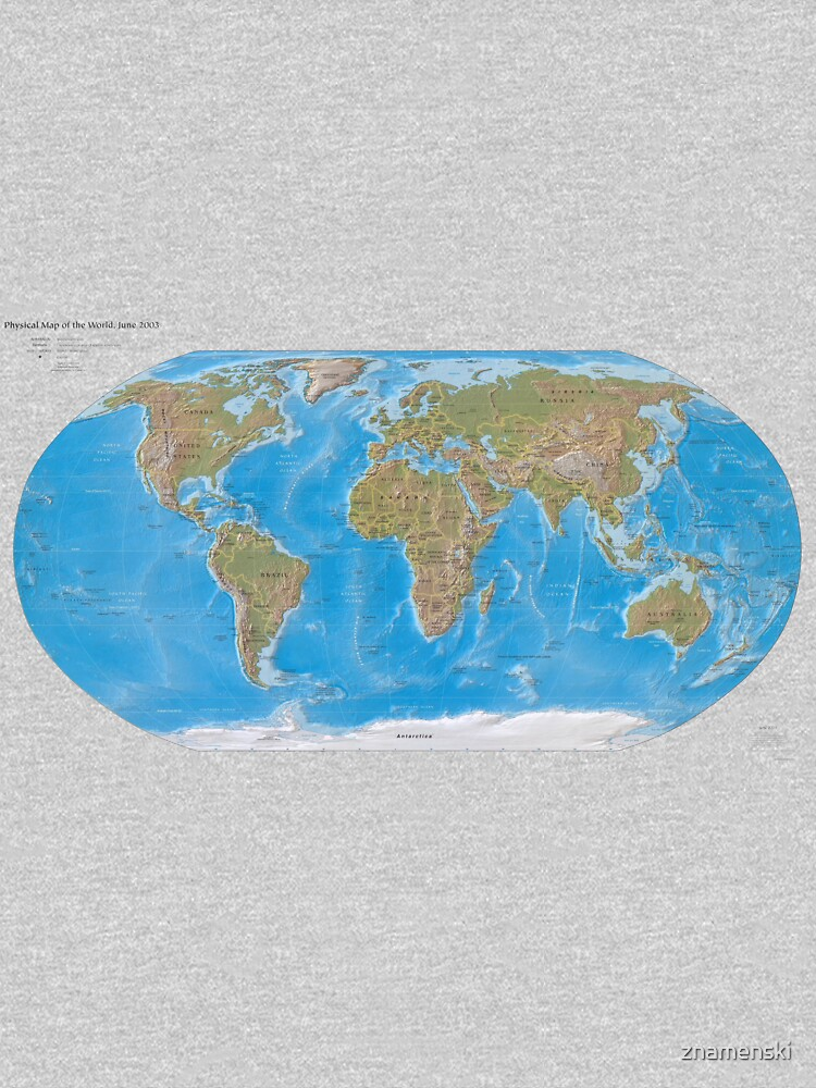 #Physical #Map of the #World 2003 by znamenski