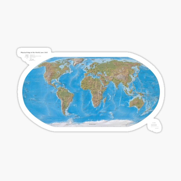 #Physical #Map of the #World 2003 Sticker