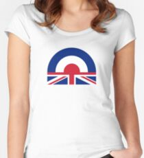British Mods Women's Fitted Scoop T-Shirt