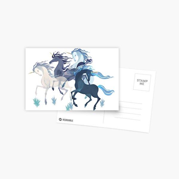 Unicorns Pattern Postcard
