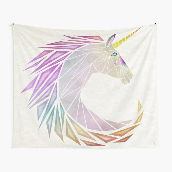 unicorn cercle Tapestry