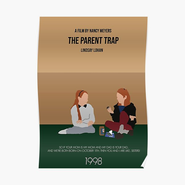 The Parent Trap Minimalist Movie Poster Poster