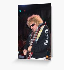Sammy Hagar in concert in Tahoe Greeting Card