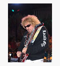 Sammy Hagar in concert in Tahoe Photographic Print