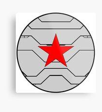 Winter Soldier Shield Metal Print