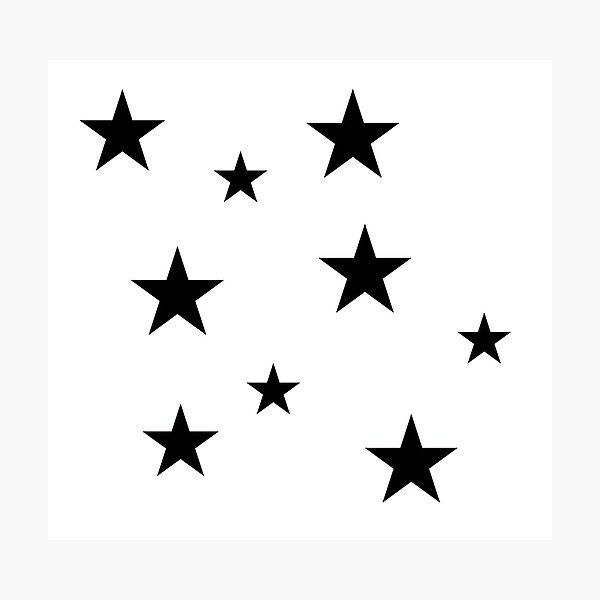 Black Star Sticker Pack Photographic Print