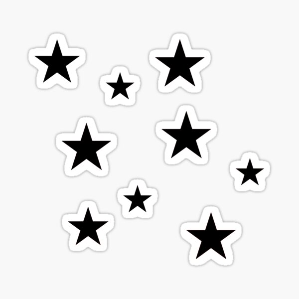 Black Star Sticker Pack Sticker
