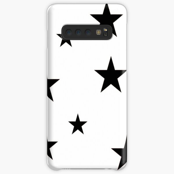 Paquete de pegatinas Black Star Funda rígida para Samsung Galaxy