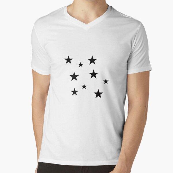 Pack d'autocollants Black Star T-shirt col V