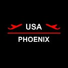 Phoenix Arizona USA Airport Plane Dark Color by TinyStarAmerica