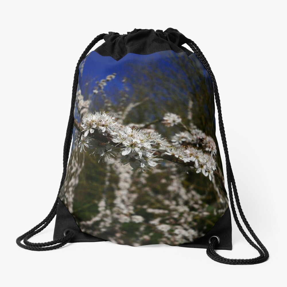 Blackthorn (Prunus spinosa) Drawstring Bag