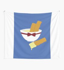 Fish fingers and custard Wall Tapestry