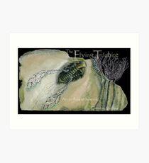 The Flying Trilobite 3 - black version Art Print