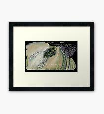 The Flying Trilobite 3 - black version Framed Print